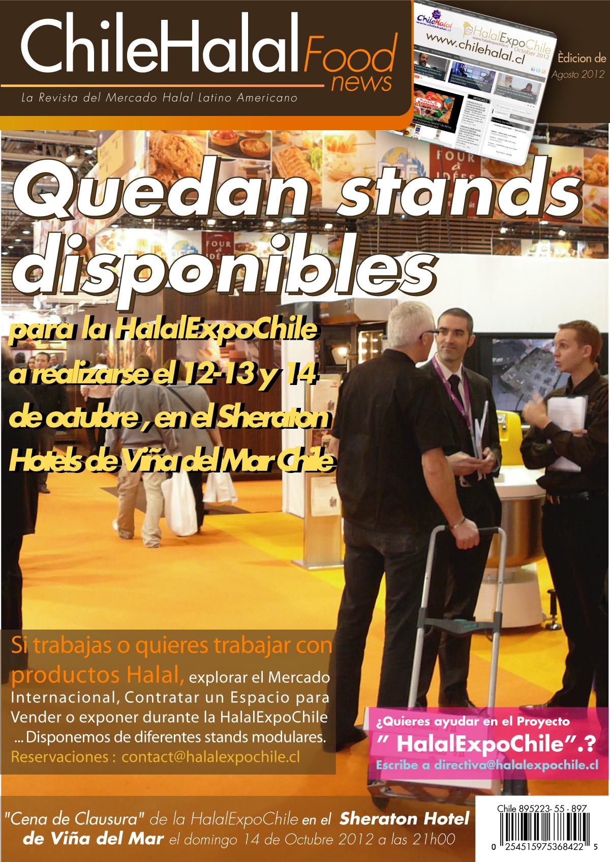 Quedan estands disponibles en la HalalExpoChile 2012