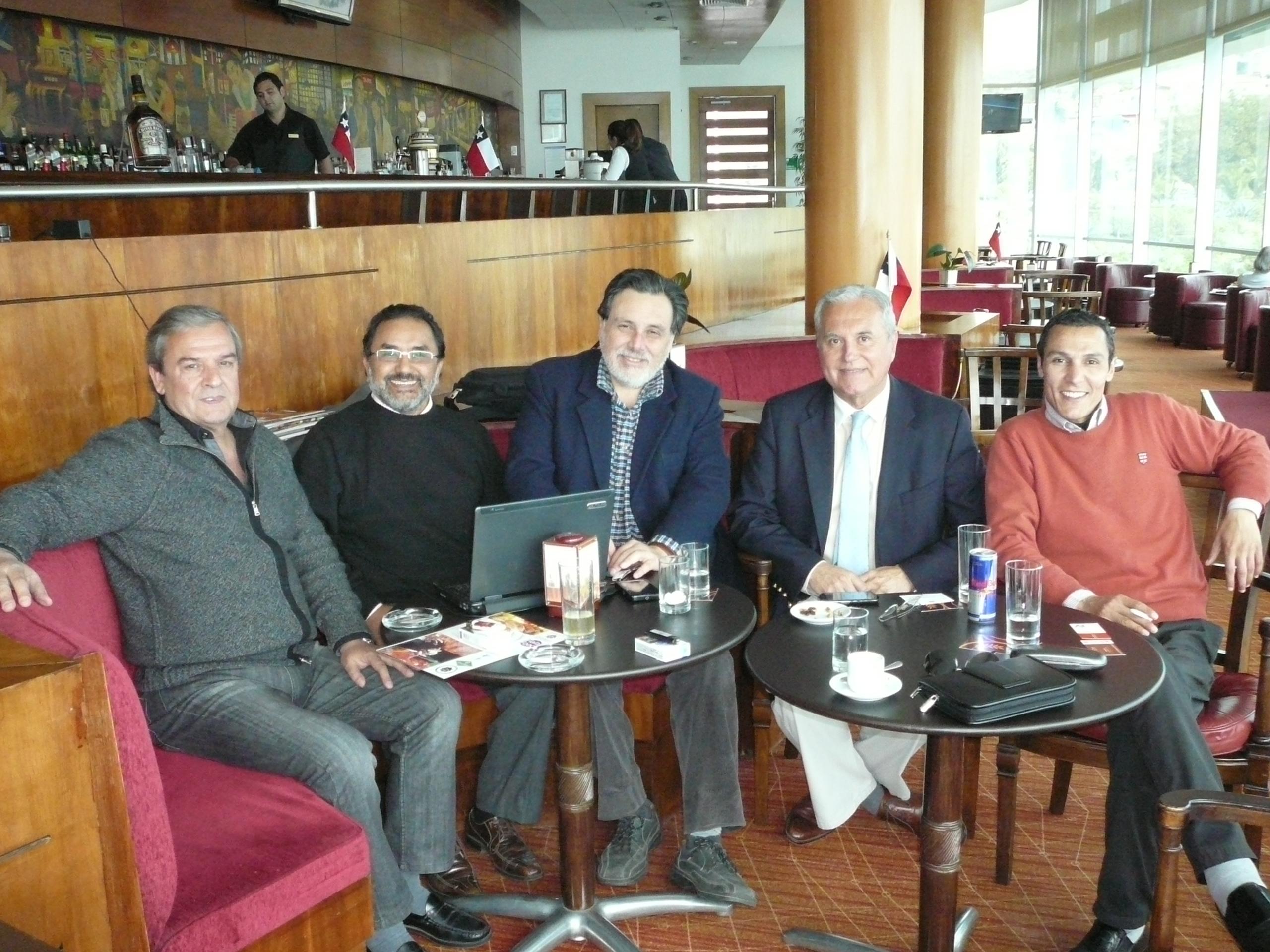 Reunion en El Sheraton Con el Consul de Marruecos y empresarios de la Quinta Region  CHILE
