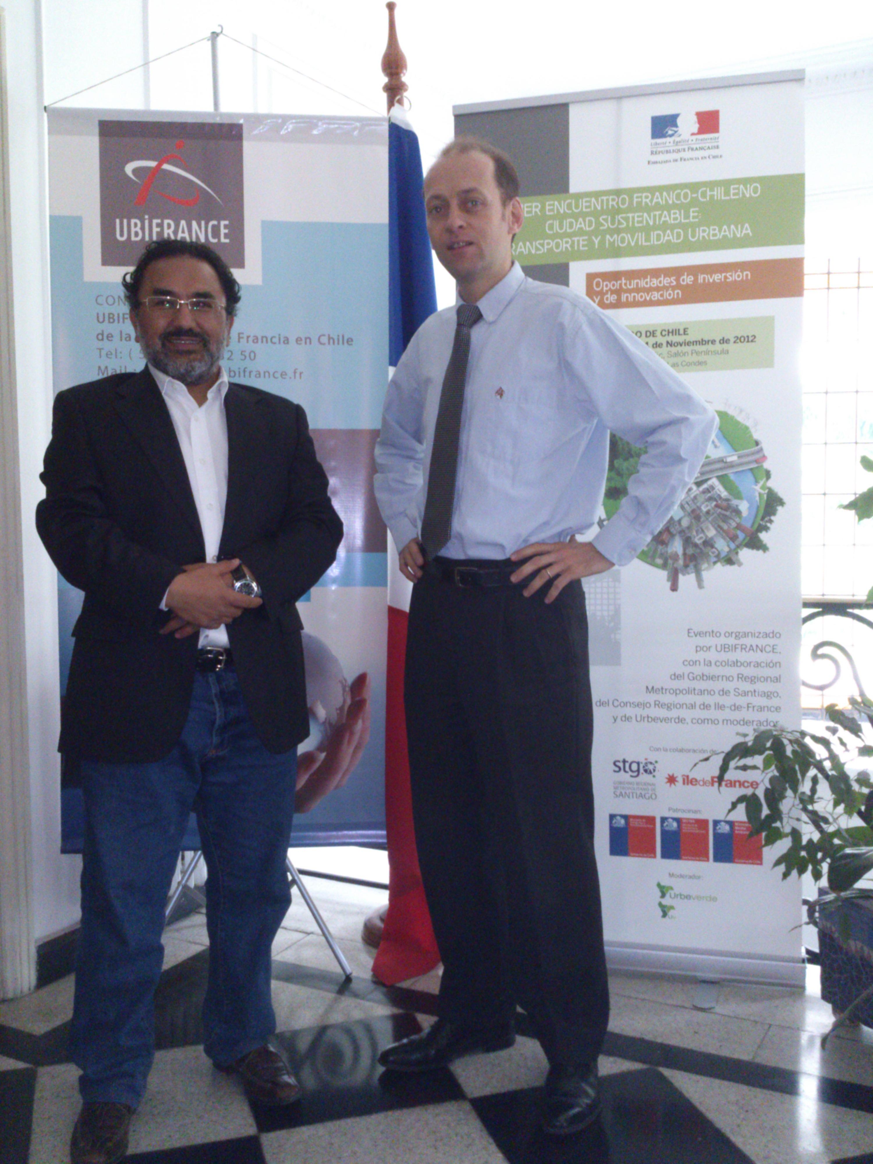 El director de Chilehalal se reune con el Director de UBIFRANCE en Santiago de Chile