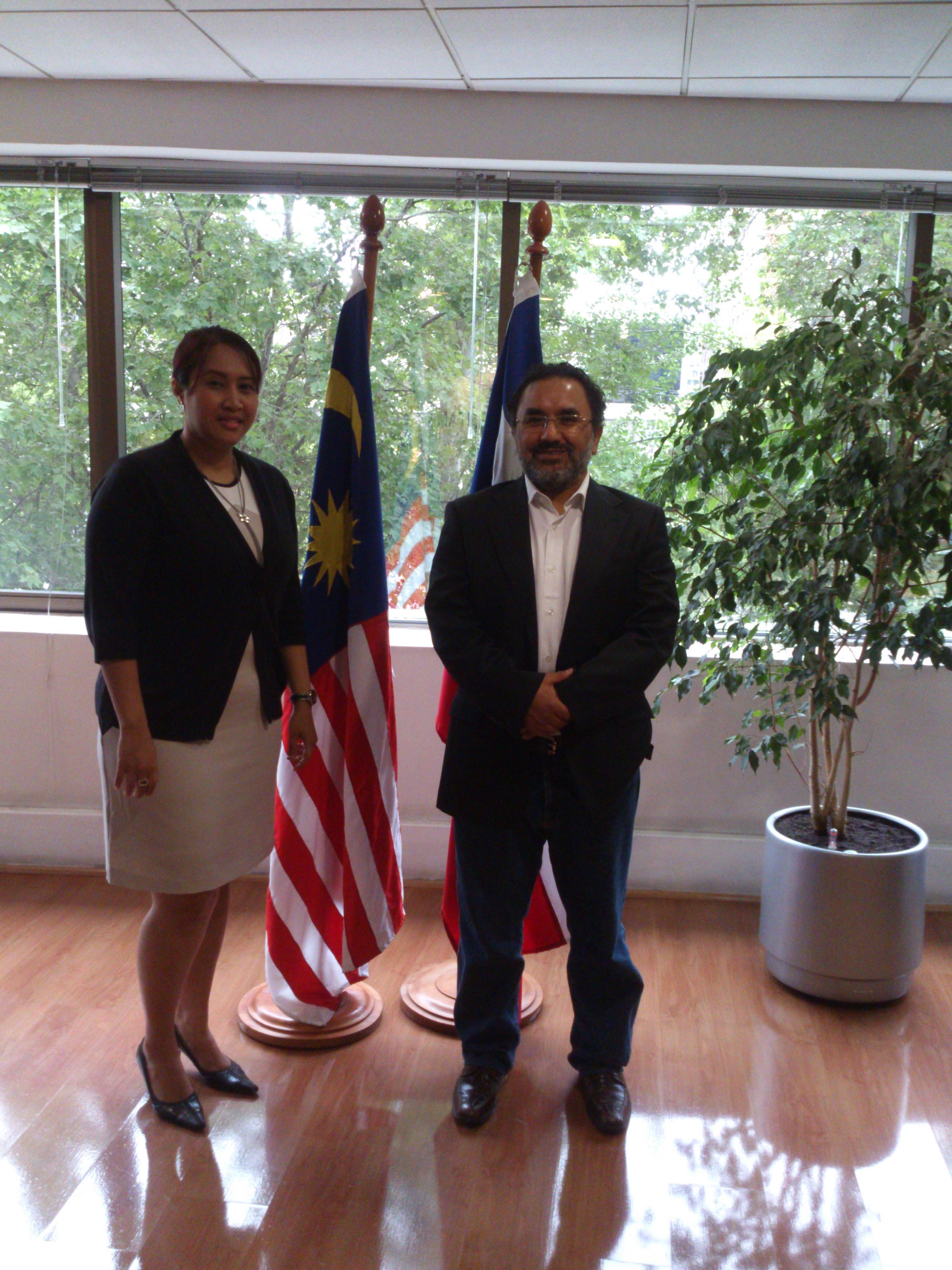 Reunion en Santiago con Matrade ( Oficina comercial de Malasia), proyecto HalalExpoChile 2013