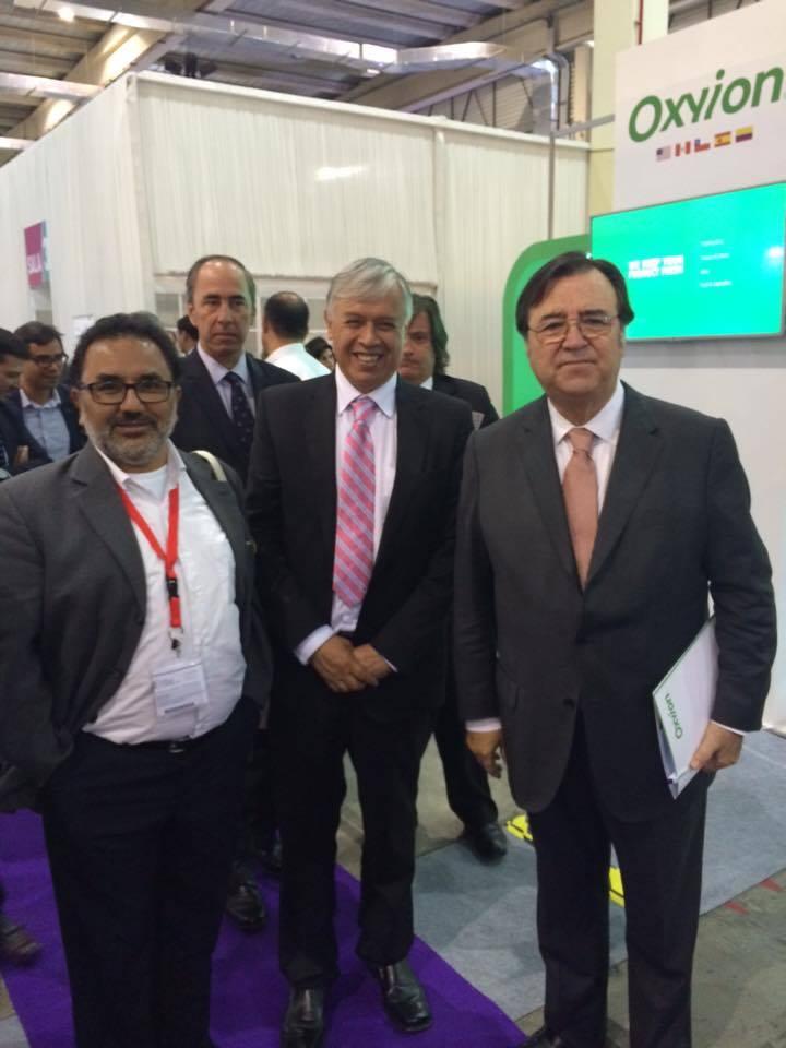 El Director de Chilehalal con el Ministro de la Agricultura y el presidente de la SNA.